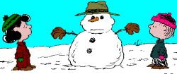 Snoopy clipart snowman