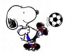 Snoopy clipart soccer