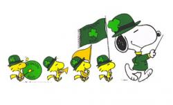 Snoopy clipart st patricks day
