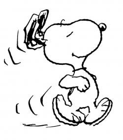 Snoopy clipart walking