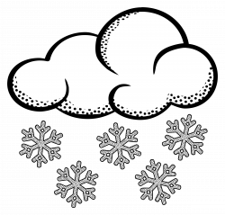 Snowfall clipart snow cloud