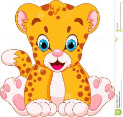 Cheetah clipart baby cheetah