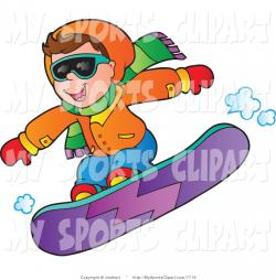 Snowboarding clipart kid