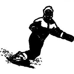 Racer clipart snowboard