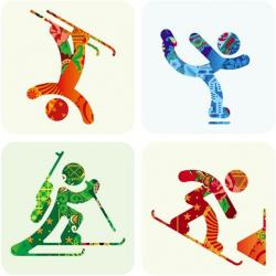 Snowboarding clipart winter olympics