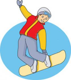 Snowboarding clipart winter sport