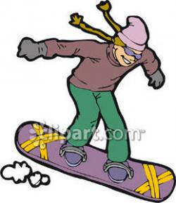 Snowboarding clipart wintertime