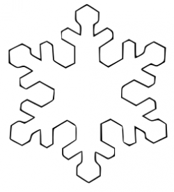 Templates  clipart snowflake