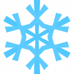Light Blue clipart snowflake