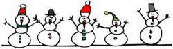 Snowman clipart boarder