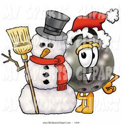 Snowman clipart bowling