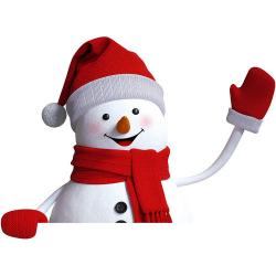 Snowman clipart clear background