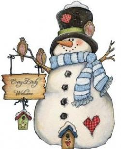 Snowman clipart country