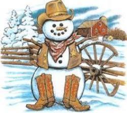 Snowman clipart cowboy