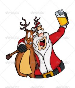 Christmas clipart drunk