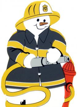 Snowman clipart firefighter