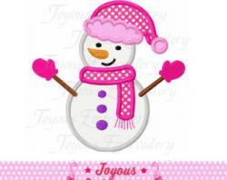 Snowman clipart girly