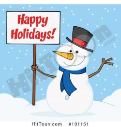 Snowman clipart happy holiday