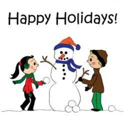Holydays clipart winter break