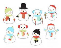 Snowman clipart kawaii