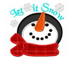 Snowman clipart let it snow