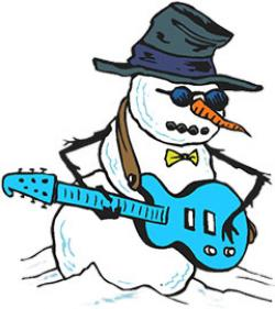 Snowman clipart rock and roll