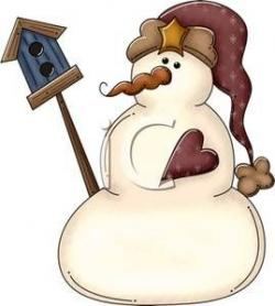 Snowman clipart rustic