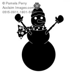 Snowman clipart shadow
