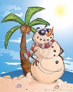 Snowman clipart tropical