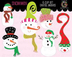 Snowman clipart whimsical