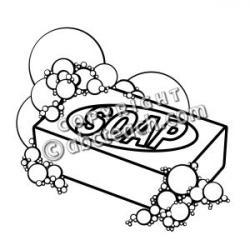 B&w clipart soap