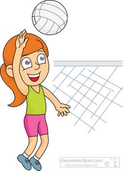 Child clipart volleyball