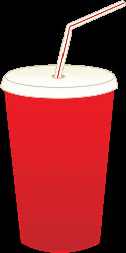 Coca Cola clipart cup straw