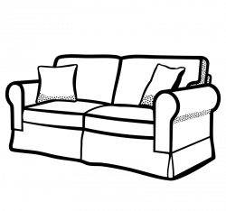 Couch clipart fancy