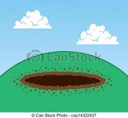 Soil clipart dirt hole