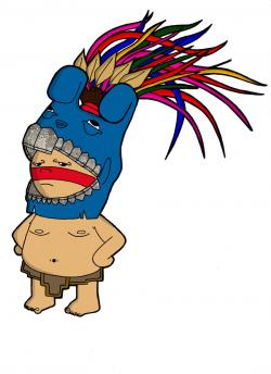 Aztec Warrior clipart cartoon