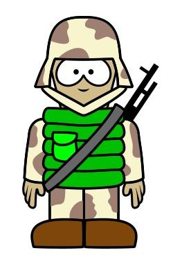 Soldiers clipart easy