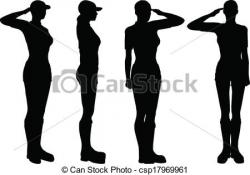 Soldiers clipart salute logo