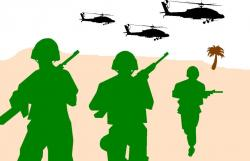 Soldiers clipart warfare