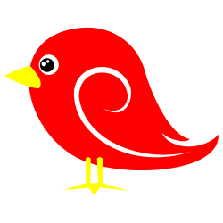 Brds clipart red