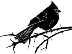 Cardinal clipart silhouette