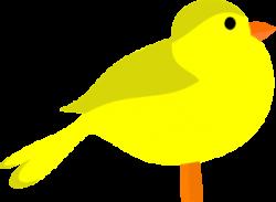 Brds clipart yellow
