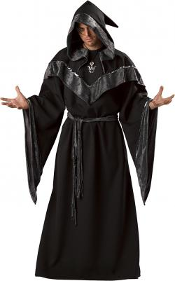 Sorcerer clipart hooded