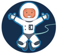Spacesuit clipart space travel
