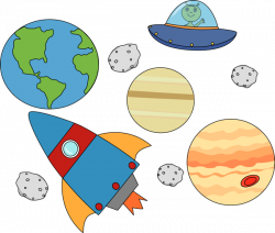 Asteroid clipart outer space