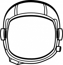 Drawn helmet astronaut