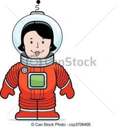 Spacesuit clipart woman astronaut