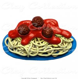 Plate clipart spaghetti and meatball
