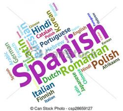 Spain clipart spanish language