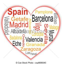 Spain clipart spanish word